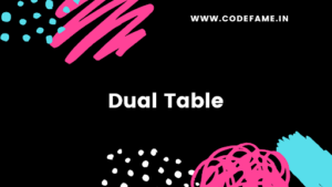 Dual table